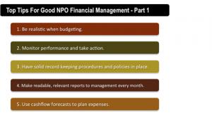 Top Tips for Good Non-Profit Financial Management – Part 1