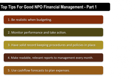 Top Tips for Good Non-Profit Financial Management – Part 1