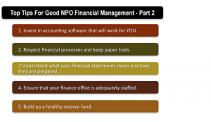 Top Tips for Good Non-Profit Financial Management – Part 2