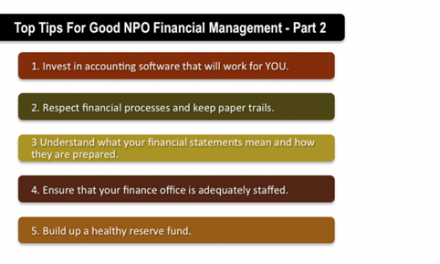 Top Tips for Good Non-Profit Financial Management – Part 2
